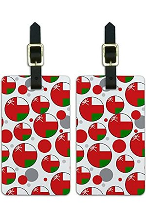 Graphics and More Graphics & More O-s-Oman Nationalflagge (Weiß) - Luggage.Tags.09656