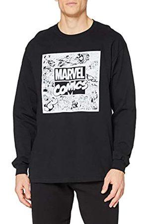 Marvel Marvel Herren Retro Square Long Sleeve Top T-Shirt