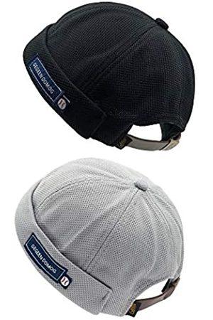 jerague Atmungsaktive Docker-Beanie-Mütze, verstellbare Lederschnalle, Vintage-Stil