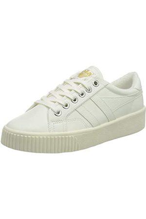 Gola Damen Baseline Mark Cox Leather Sneaker, Off White/Off White