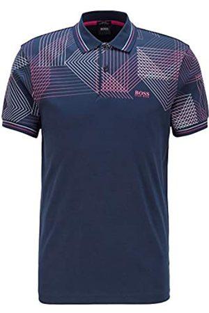HUGO BOSS BOSS Herren Paule 5 Poloshirt mit Grafik-Print im Farbverlauf