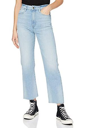 G-Star Womens Tedie Ultra High Waist Ripped Ankle Straight Jeans
