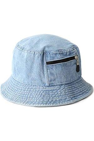 MIRMARU Vintage 100% Baumwolle Canvas Denim Bucket Hat - Casual Outdoor Angeln Wandern Safari Boonie Hut - - S/M