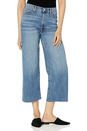 The Drop The Drop Damen-Jeans Lizzy, kurzer und weiter Beinschnitt, hohe Taille, Denim, Blau (Clearwater)
