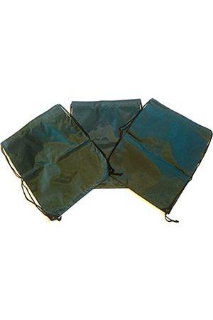 TheAwristocrat 3 Stück Nylon Kordelzug Rucksäcke Sackpack Tote Cinch Gym Bag – verschiedene Farben (Gr�n) - TA-DSB