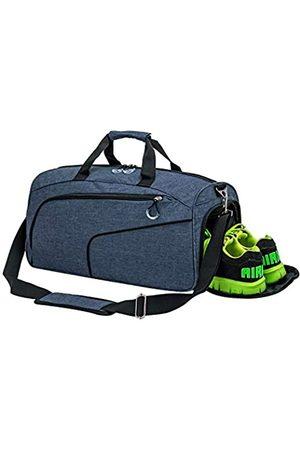 Kuston Kuston Sport Turnbeutel mit Schuhfach & Nasstasche Gym Duffel Bag Übernachtung Tasche für Damen und Herren (Blau) - 18