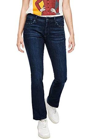 s.Oliver S.Oliver Damen Slim Fit: Jeans mit Nieten dark blue 34.30