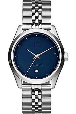MVMT Unisex – Erwachsene Analog Quarz Uhr mit Edelstahl Armband D-TC01-BLUS