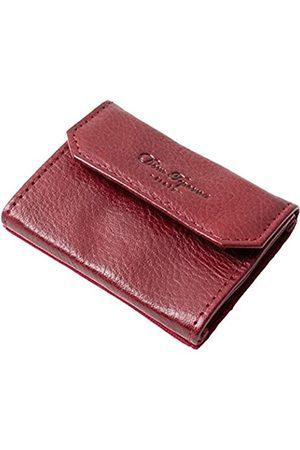 Dom Teporna Italy Dom Teporna Italy Mini-Geldbörse aus genarbtem italienischem Leder, mit Gürtel, Karten, Münzen, klein, minimalistisch, Schule, Arbeit, Einkaufen, 5 Farben (rot)
