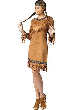 Unbekannt Fun World Indianer-Kostüm für Damen - - Medium/Large