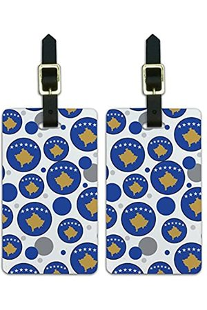 Graphics and More Graphics & More J-n-Kosovo Nationalflagge (Weiß) - Luggage.Tags.09613