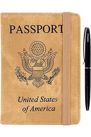 HerriaT HERRIAT Reisepasshülle aus Leder, RFID-blockierend