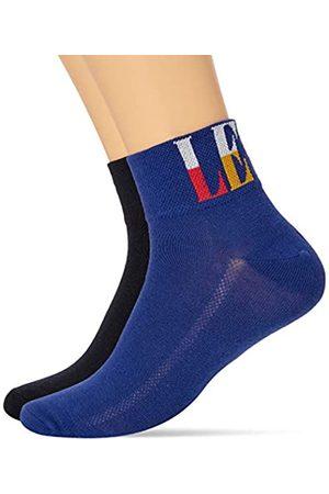 Levi's Unisex-Adult Split Tall Logo Mid Cut Socks (2 Pack) Sneaker