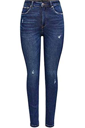 Only ONLY Female Skinny Fit Jeans ONLMila Life HW Ankle 2932Dark Blue Denim