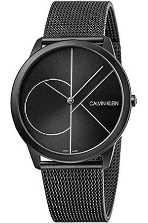 Calvin Klein Herren Analog Quarz Uhr mit Edelstahl Armband K3M5T451
