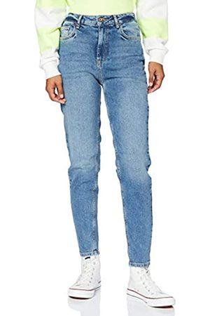 Pieces PIECES Damen PCLEAH MOM HW ANK MB256-BA/NOOS BC Jeans, Medium Blue Denim