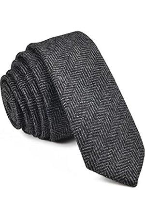 """VOBOOM Herren krawatte dünne krawatte tweed-muster-woll-hals-bindung-viele farben länge: 59"""" (150cm) breite: 2"""
