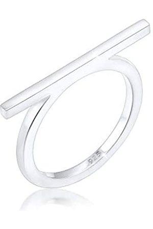 Elli Elli Ring Damen Geo Minimal Blogger Trend Edgy in 925 Sterling