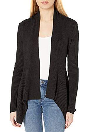 Daily Ritual Ultra-Soft Ribbed Draped Sweater Cardigan-Sweaters