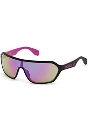 adidas Adidas Unisex-Erwachsene OR0022 Sonnenbrille, matte black/bordeaux mirror
