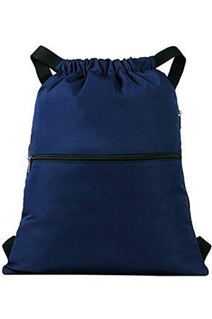 Vorspack Vorspack Kordelzug-Rucksack mit Seitentasche für Männer und Frauen