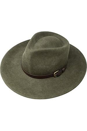 Borges & Scott B&S Premium Lewis - Fedora Hut mit breiter Krempe - 100% Wollfilz - wasserfest - Lederband - 58cm