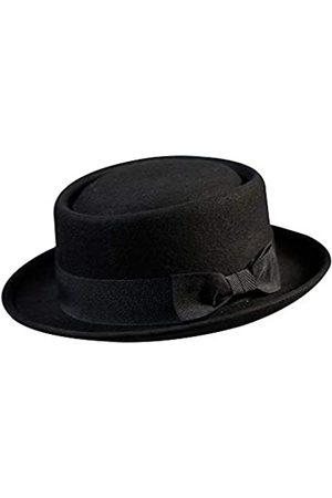 Samplife Pork Pie Hut 100% Wollfilz Herren Porkpie Breaking Bad Hüte Flat Top Herren Fedora Party Kostüm - - large