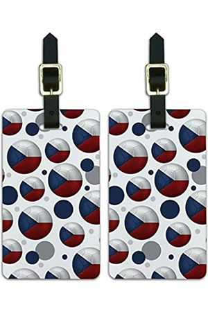 Graphics and More Graphics & More Futbol Football Country Z-The Czech Republic Flag Fußball (Weiß) - Luggage.Tags.09824