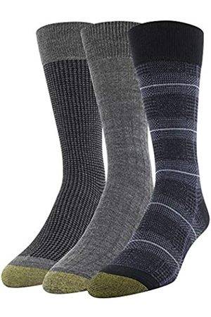 Gold Toe Men's Glen Plaid and Houndstooth Crew Socks, 3 Pairs