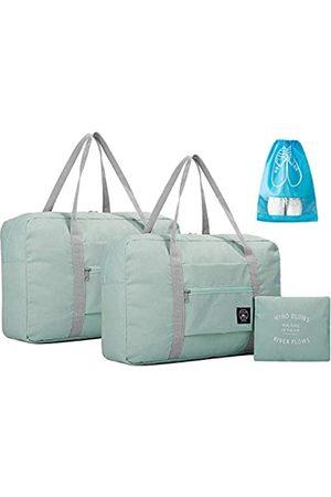 IBLUE IBLUE Faltbare Reisetaschen, leicht, für Fitnessstudio, Sport, mit Schuhtasche, 2 Stück