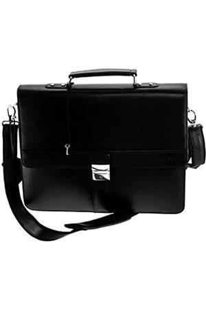 Boudier & Cie Boudier & Cie und Cie Businesstasche Tasche für Herren Männer Aktentasche mit Schultergurt und Tragegriff aus Leder in Laptoptasche Business Bag BBG3