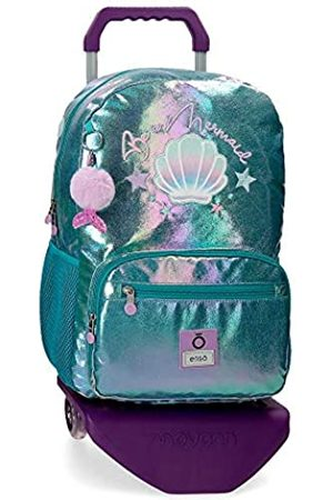 Enso Enso Be a Mermaid Laptop-Rucksack mit Trolley für die Schule 32x42x14 cms Polyester 15