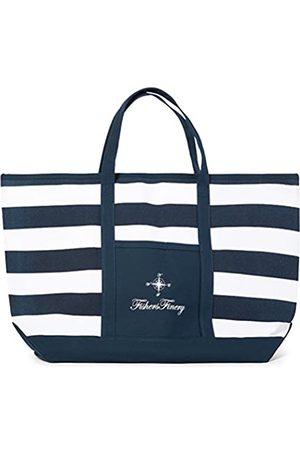 Fishers Finery Fishers Finery Robuste Canvas-Strandtasche mit Reißverschluss; mehrere Größen und Farben (Blau) - LT-04-BG1-831-NVY-M