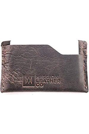Mission Leather Schlankes Vollnarbenleder-Vordertasche für Herren – minimalistischer Alltags-Kreditkartenhalter