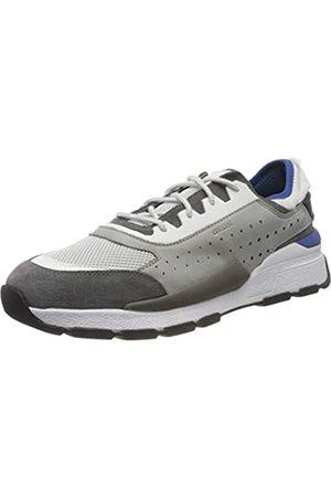 Geox Geox Herren U Regale A Sneaker, Grau (Lt Grey/Dk Royal C1l4r)