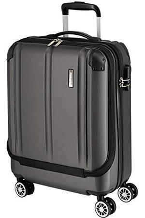 Elite Models' Fashion Travelite 4-Rad Handgepäck Koffer mit Vortasche erfüllt IATA Bordgepäckmaß, Gepäck Serie CITY: Robuster Hartschalen Trolley mit kratzfester Oberfläche, 073046-04, 55 cm
