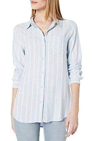 Daily Ritual Amazon Brand - Women's Soft Rayon Slub Twill Long-Sleeve Button-Front Tunic