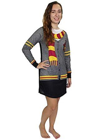 Harry Potter Hogwarts Gryffindor Damen-Nachthemd mit langen Ärmeln - - Small