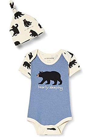 Hatley Baby-Jungen Bodysuit & Cap Kleinkind-Schlafanzge, Bearly Sleeping