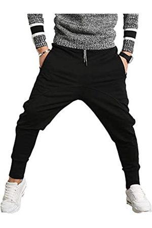 PRIJOUHE Herren Jogger Sweatpants Low Crotch Sweats Slim Fit Hose Harem Hip Hop Pants - - Groß