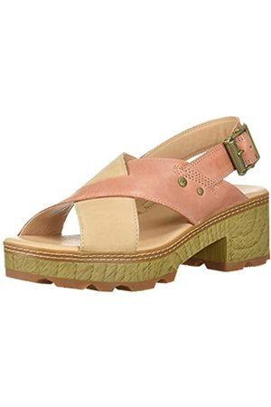 Caterpillar Damen Lia Verstellbarer Riemen Leder Cris Cross Sandalen mit Absatz, Pink (rose)