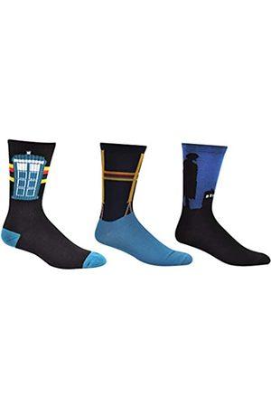 Everything Legwear Doctor Who 13th Doctor Socks Merchandise (3 Paar) – (1 Größe) 13. Dr. Who Tardis Cosplay Crew Socken Damen & Herren