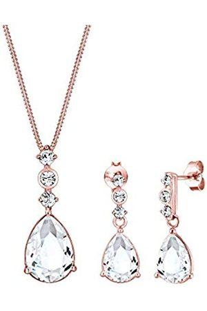 Elli Elli PREMIUM Schmuckset Damen Tropfen Edel mit Swarovski® Kristalle in 925 Sterling Silber