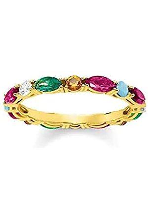 Thomas Sabo Thomas Sabo Damen-Ring Glam & Soul Farbige Steine 925 Sterling Silber gelbgold vergoldet Größe 58 TR2185-488-7-58