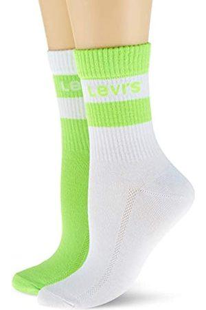 Levi's Unisex-Adult Logo Stripe Cut (2 Pack) Short Sock