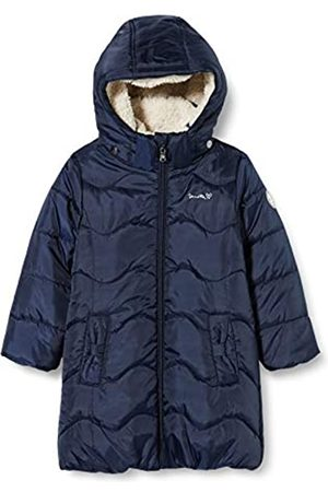 Sanetta Sanetta Mädchen Outdoor Mantel Nordic Blue Warmer Kidswear Wintermantel Dunkelblau mit Abnehmbarer Kapuze