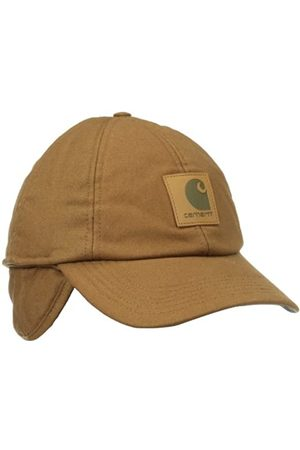 Carhartt Unisex-Adult Stretch Fitted Earflap Baseball Cap, Brown