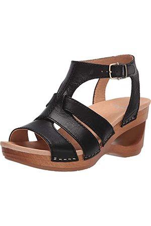 Dansko Women's Trudy Black Wedge Sandal 8.5-9 M US