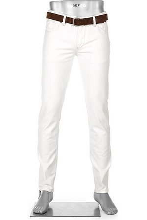 Alberto Tapered Fit Slipe White Denim 68371390/115