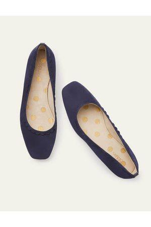 Boden Olive Ballerinas Navy Damen